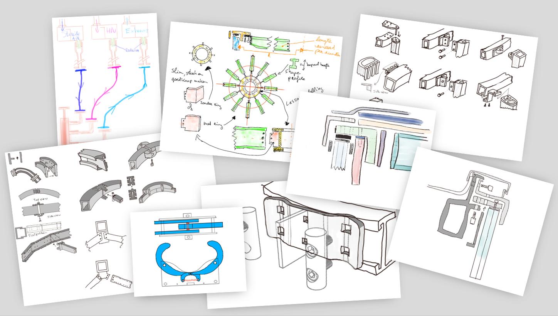 Hoe kunnen snelle schetsen helpen in het overtuigen van de klant?